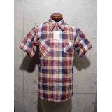 Cushman/コットンリネンチェックワークシャツ